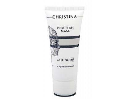 """Поросуживающая фарфоровая маска """"Порцелан"""" для жирной и проблемной кожи"""